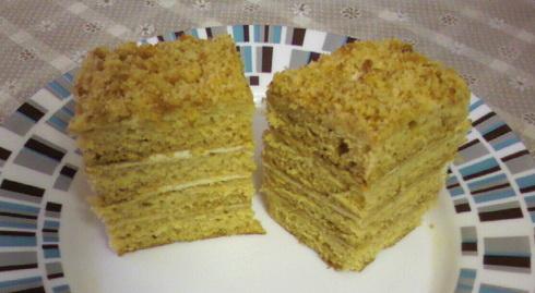 Рецепт торта медовый ангарский рецепт с фото